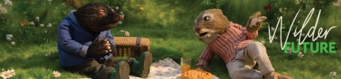 Ratty and mole having a picnic - Wilder Future