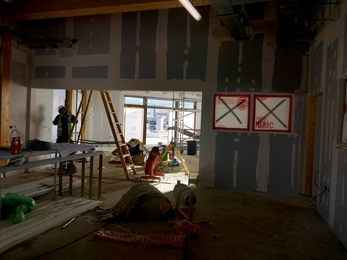 Inside the Visitor Centre as it's being built