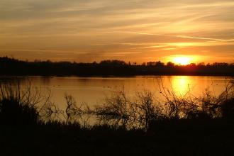 Sunset over Pitsford