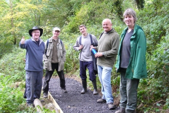 Volunteers on a nature reserve