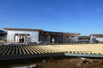 Nene Wetlands visitor centre as building site March 2017 by Caroline Fitton