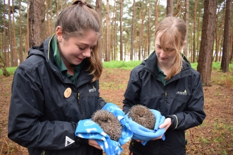 Center Parcs Conservation Rangers Lucie Vicentijevic and Laura Webb
