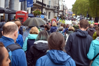 The People's Walk for Wildlife weaves through London with birdsong as an accompaniment. Photo by Sophie Baker