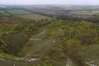 Totternhoe quarry by drone