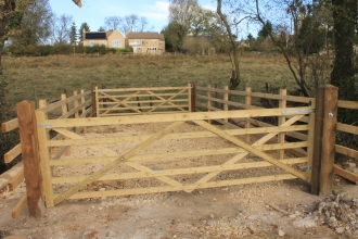 Wansford Pasture new gates by Aidan Matthews