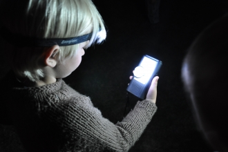 Child with bat detector by Emma Bradshaw from WildNet