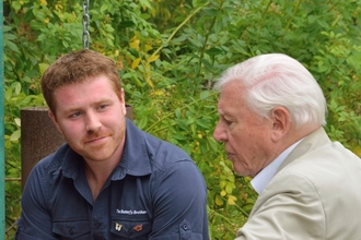 Joel Ashton and David Attenborough
