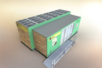 A mockup of the proposed visitor centre at Summer Leys