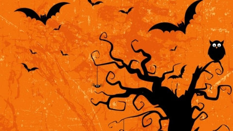 Illustrated halloween background