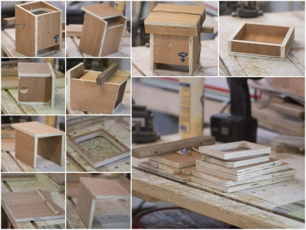 A visual step-by-step of a dormouse house build