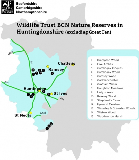 Map of Huntingdonshire Reserves