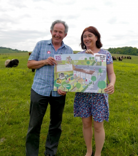 John Comont and MEP Alex Mayer at Pegsdon Hills by Caroline Fitton