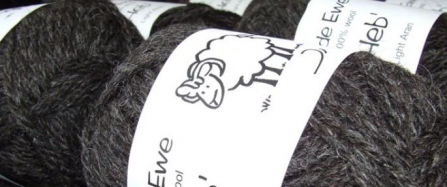 Yarn ball made from Hebridean sheep wool