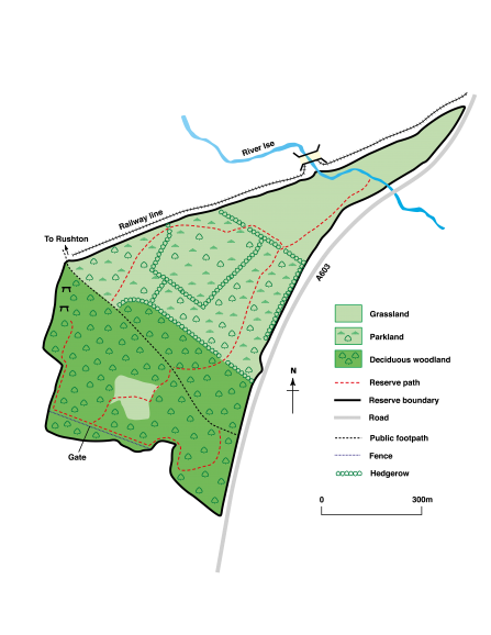 The Wildlife Trust Barford Wood and Meadows nature reserve