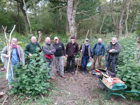 Coppicing workshop at Hayley Wood in October 2019