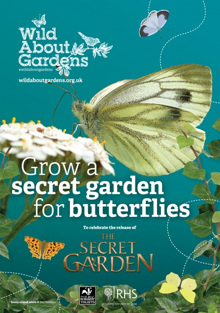 The front cover of the free downloadable leaflet all about gardening for butterflies
