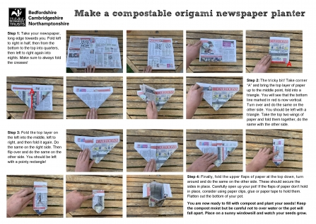 Make a compostable newspaper planter