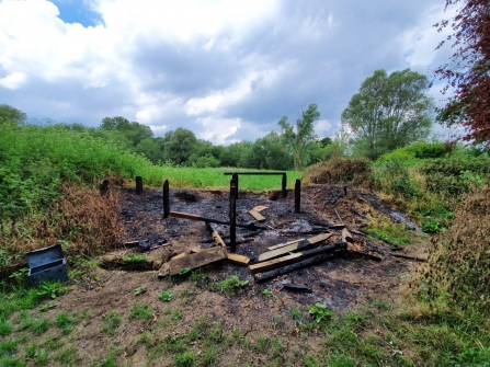 Titchmarsh Hide Burnt Down